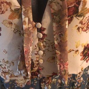 Zara Dresses - Zara Pussy  Bow Print Dress